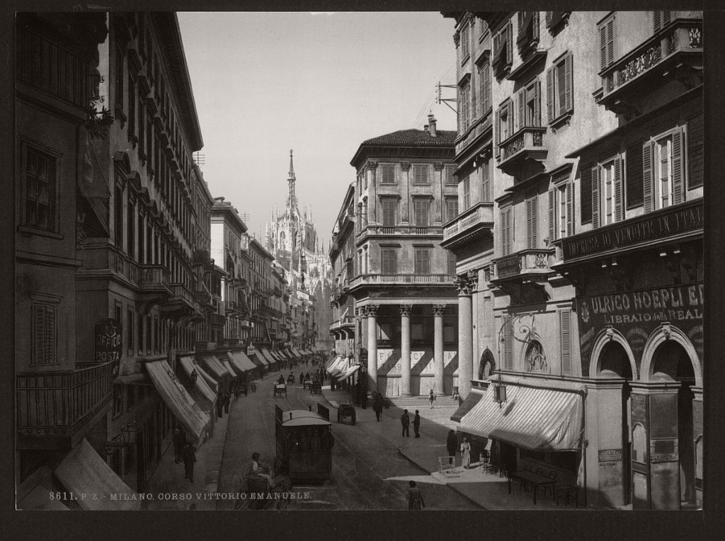 Historic b w photos of milan italy 19th century for Italy b b