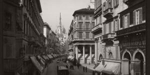 Historic B&W photos of Milan, Italy (19th century)