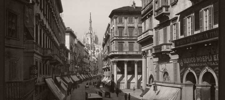 Historic B&W photos of Milan, Italy (19th century)