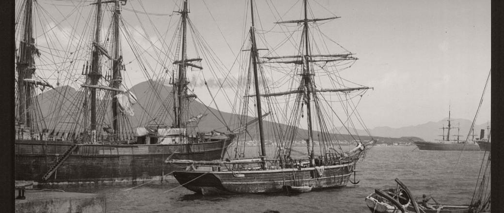 Historic B&W photos of Naples, Italy (19th century)
