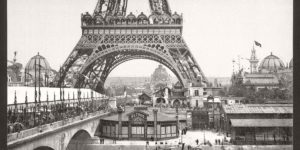 Historic B&W photos of Paris, France, late 19th Century