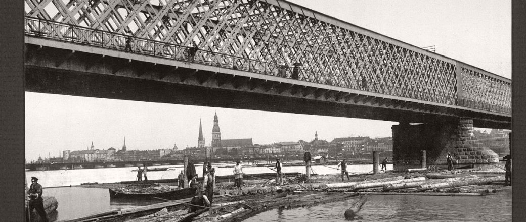Historic B&W photos of Riga, Russia (Latvia) late 19th Century