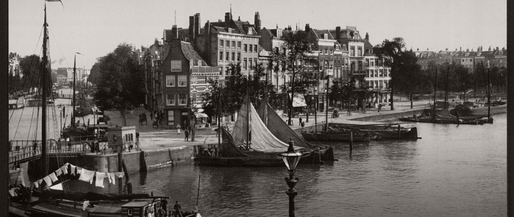 Historic B&W photos of Rotterdam, Holland (19th century)
