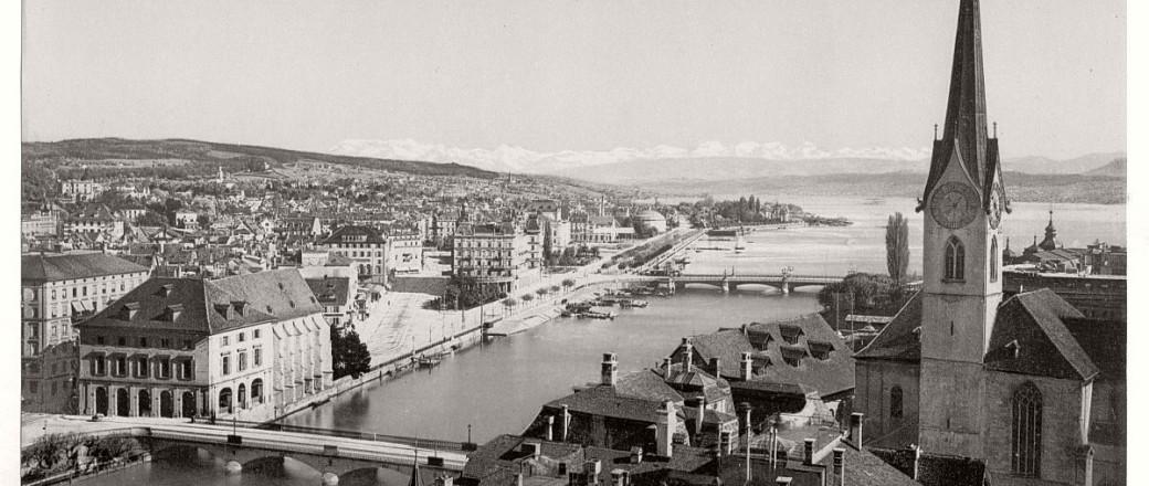 Historic B&W photos of Zurich, Switzerland (19th century)
