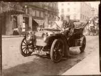 Historic Edwardian era Glass Plate photos of Automobiles (1900s)