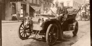 Historic Edwardian era Glass Plate photos of Automobiles (1900s)