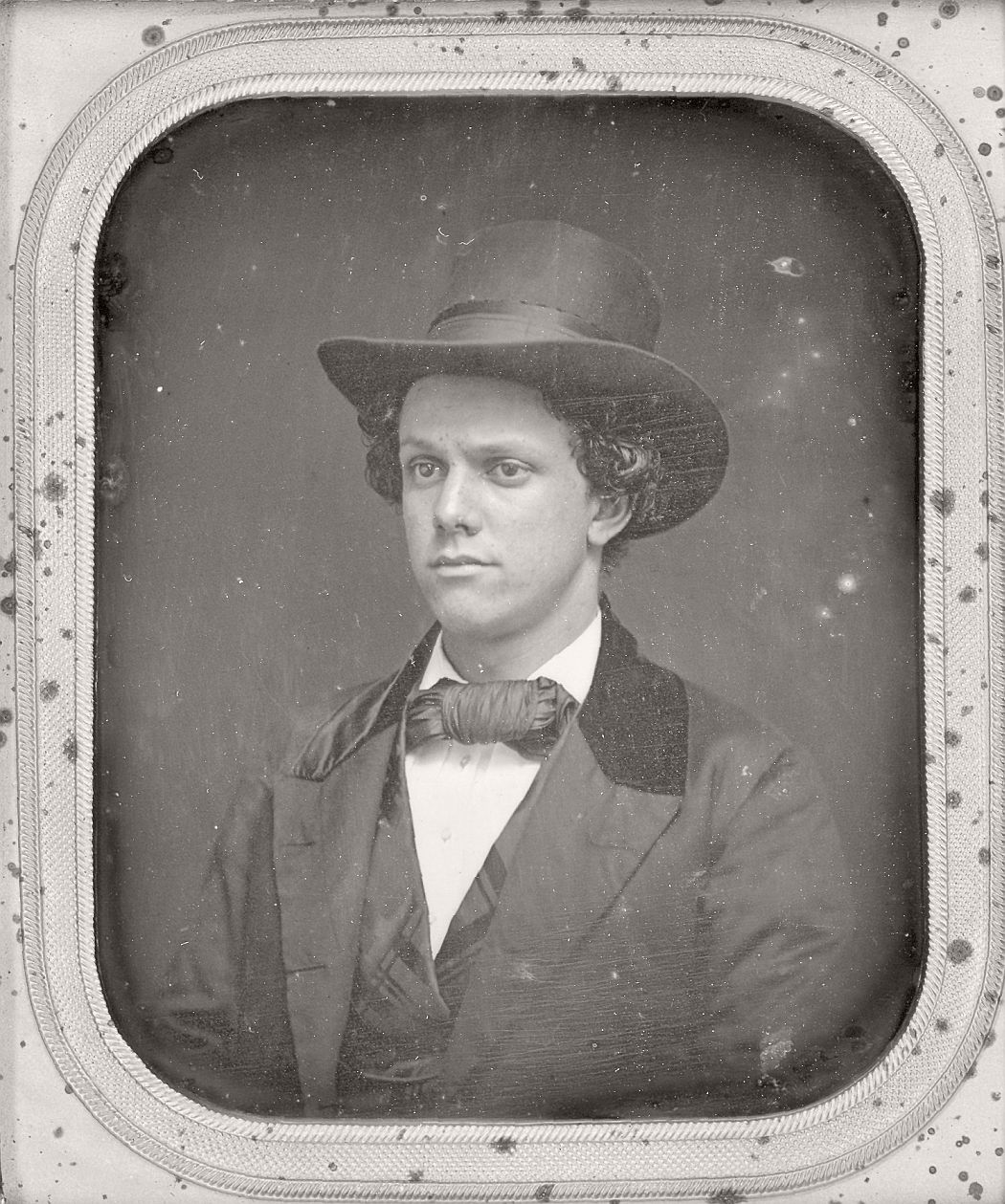 victorian-era-daguerreotype-of-men-in-hat-1850s-xix-century-19