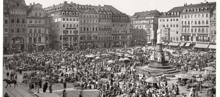Vintage: Altstadt, Dresden, Saxony, Germany in the late 19th Century