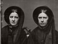 Vintage Daguerreotypes of widows in mourning (Victorian era, 1800s)