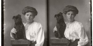Vintage Glass Plate portraits of Pets (1910s)