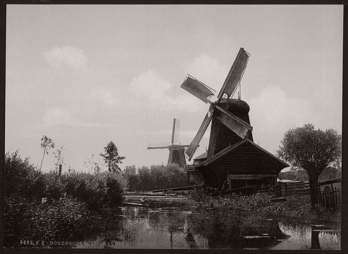 vintage-historic-bw-photos-of-dutch-windmills-in-19th-century-01