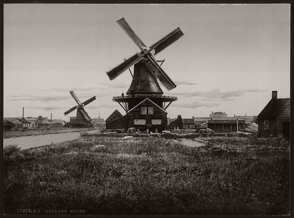 vintage-historic-bw-photos-of-dutch-windmills-in-19th-century-06