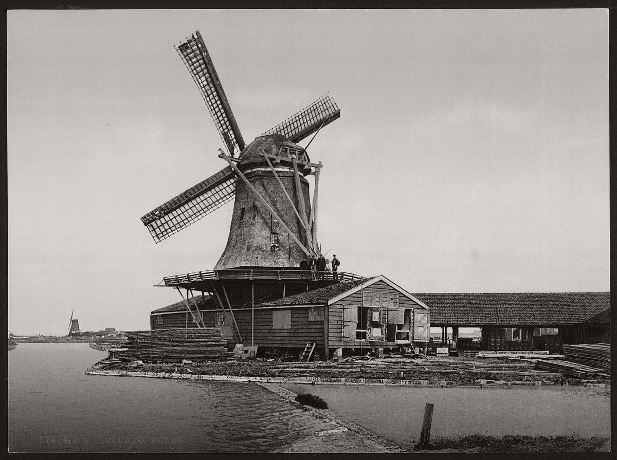 vintage-historic-bw-photos-of-dutch-windmills-in-19th-century-07