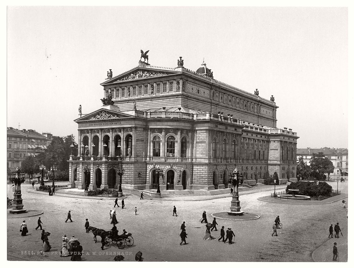 Vintage: historic photos of Frankfurt am Main, Germany in ...