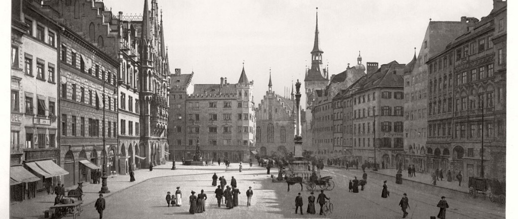 Historic B&W photos of Munich, Bavaria, Germany in the 19th century
