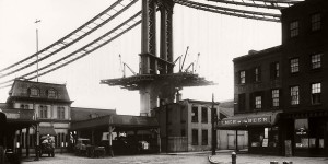 Vintage: Manhattan Bridge Under Construction (New York, 1903-1909)