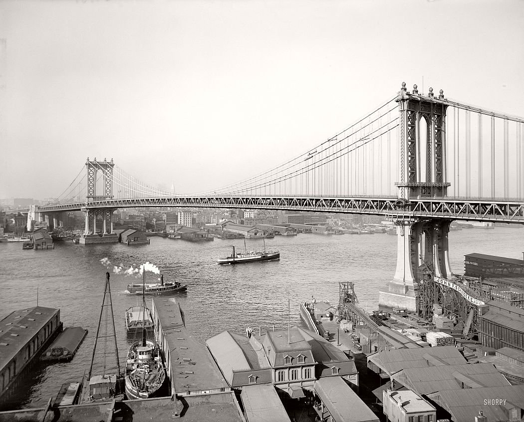 vintage-manhattan-bridge-under-construction-new-york-in-1912