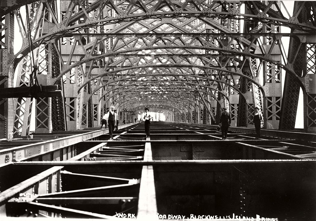 Vintage: Queensboro Bridge Under Construction, New York in 1907
