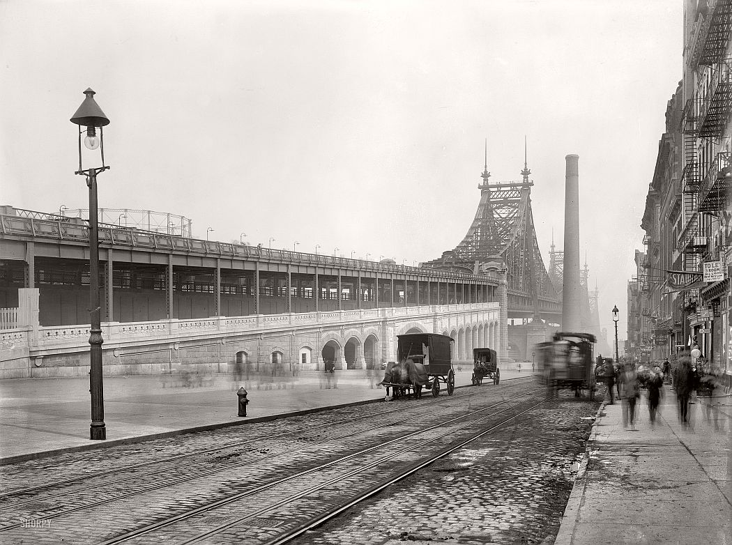Vintage: Queensboro Bridge (59th Street), New York in 1909