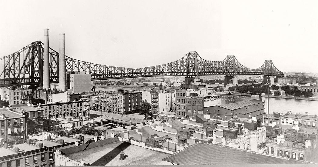 Vintage: Queensboro Bridge, New York in 1909