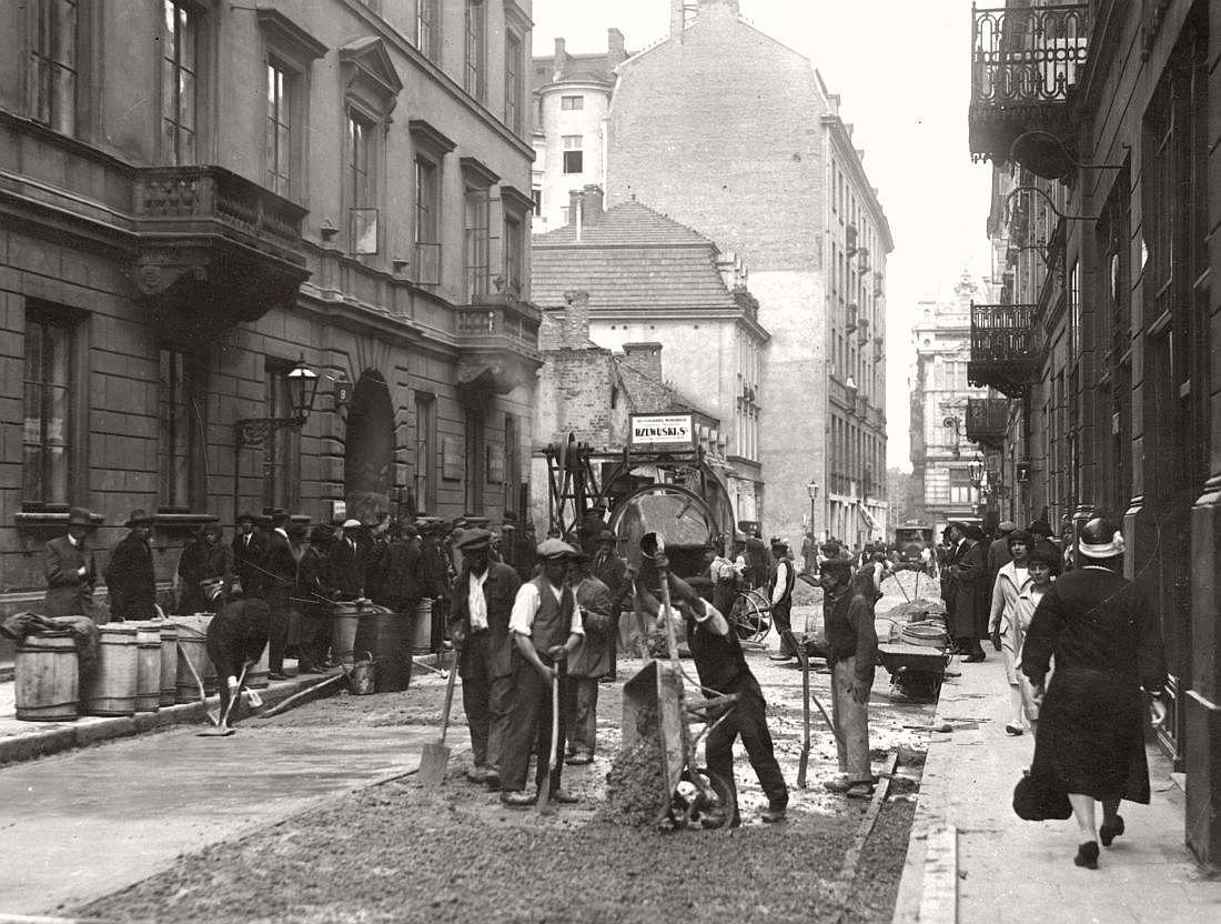 Chmielna in Warsaw, 1926