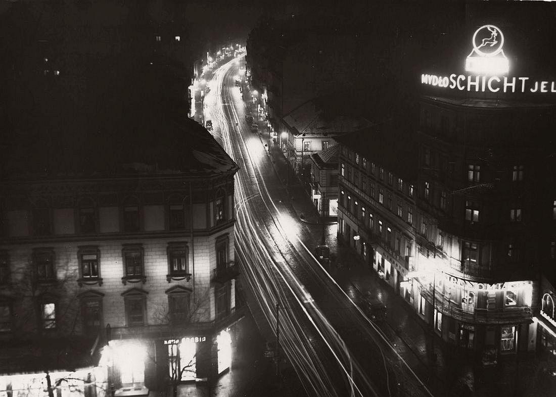 Nowy Świat street in Warsaw, 1934