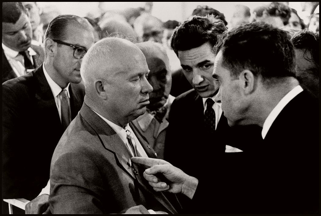 USSR. Moscow. 1959. Nikita KHRUSHCHEV and Richard NIXON.