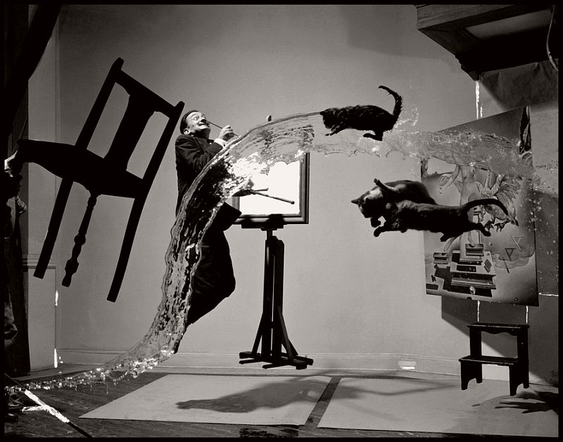 "USA. 1948. Salvador DALI. ""Dali Atomicus."""