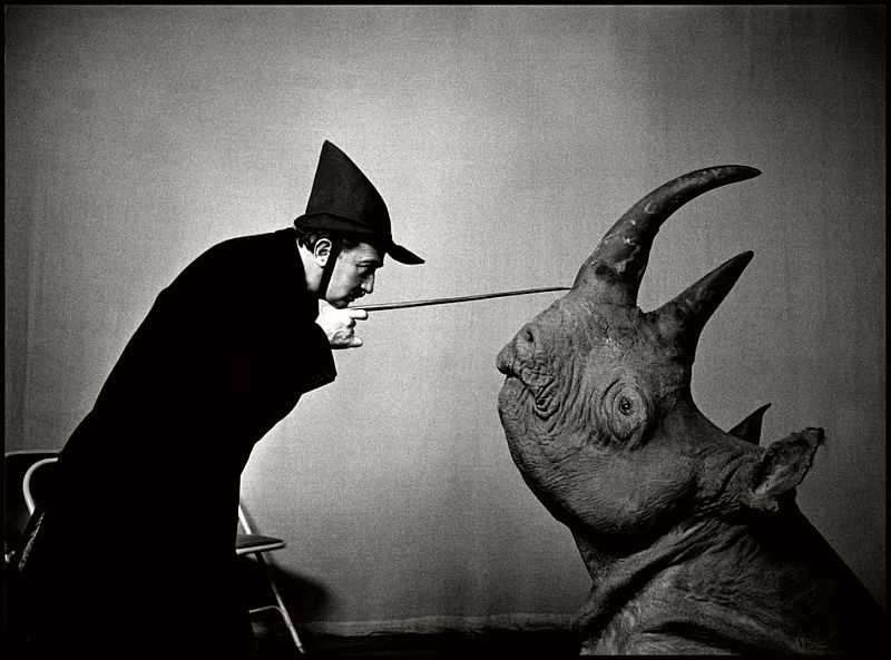 1956. Spanish painter Salvador DALI.