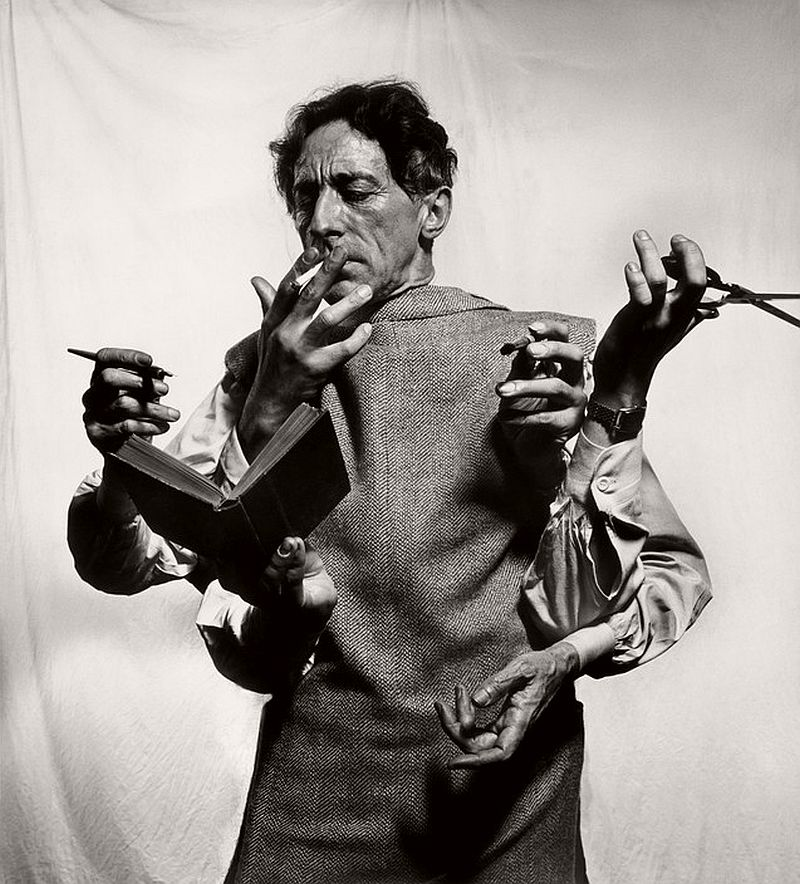 USA. NYC. 1949. French poet, artist and filmmaker Jean COCTEAU.