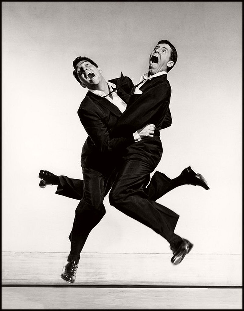 1951. American actors Dean MARTIN and Jerry LEWIS.