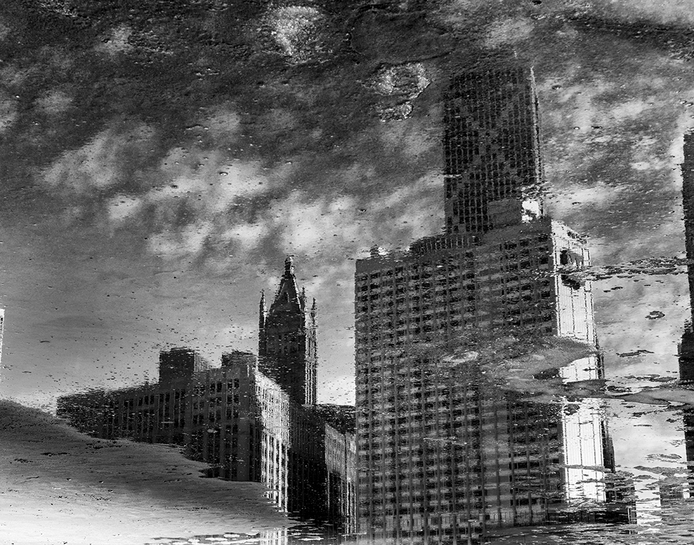 Cityscape from Ohio Street Beach in Streeterville, Chicago