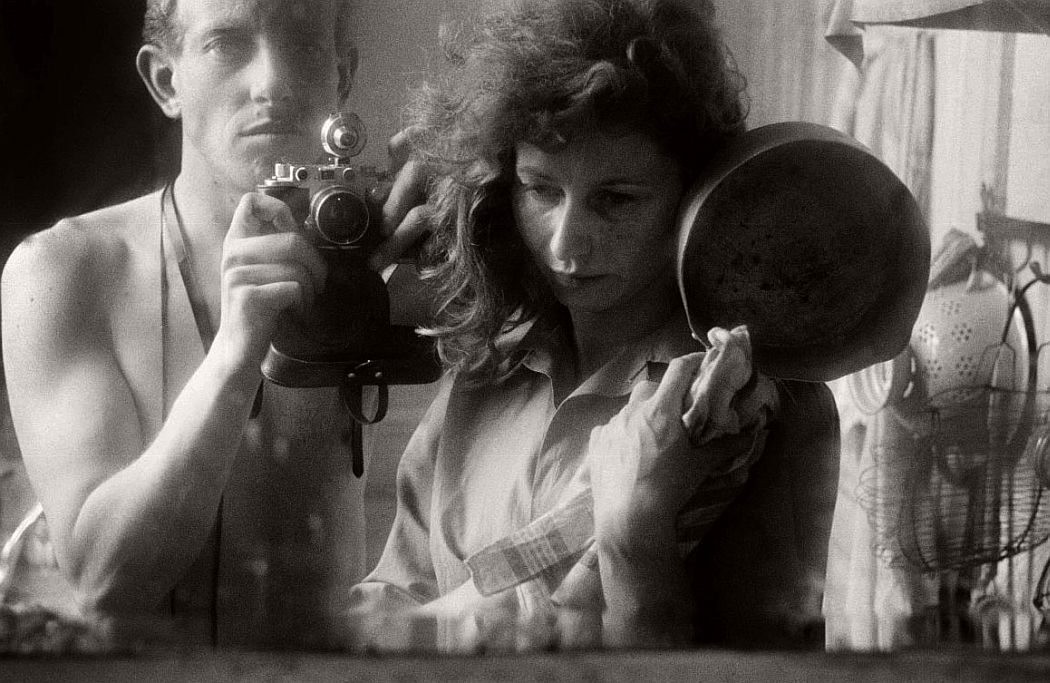 Ed van der Elsken, Self-portrait with Ata Kandó, Paris, 1953