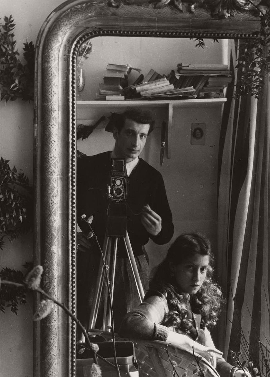 Edouard Boubat --Self-portrait in Mirror, Paris, c1951