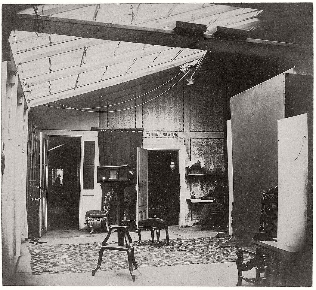 Atelier Brandl, ca. 1870 with full glass roof