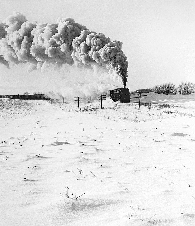 Great Northern Railway Extra 3383 East East of Willmar Minnesota 1955