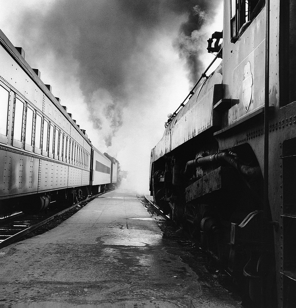 Canadian Pacific Railway CPR-36-5 Steam locomotives on communitor train Windsor Station Montreal Quebec Last week of steam operation March 1960