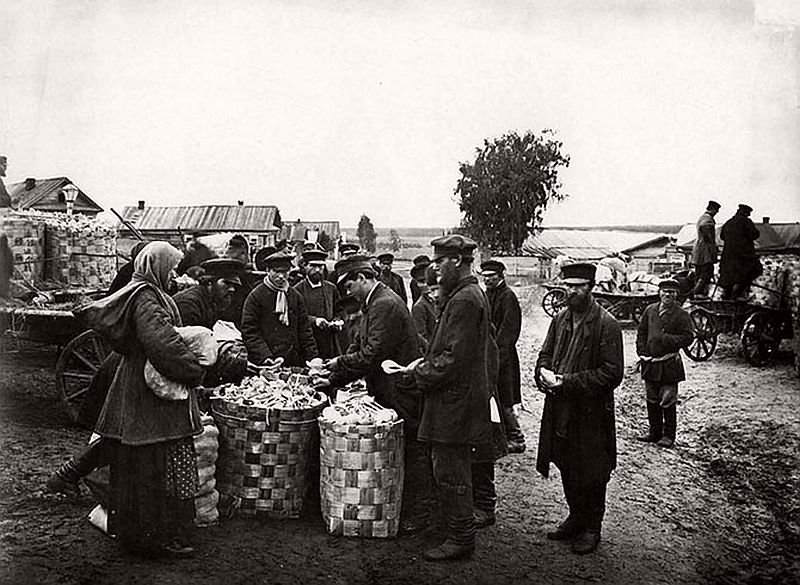 Vintage Russian Peasants And Their Craft Jobs Early 20th