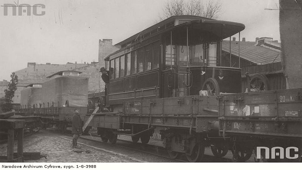 new-belgian-tram-cars-which-were-brought-to-warsaw-visible-wagon-p-9-carried-on-the-railway-platform-warsaw-1925