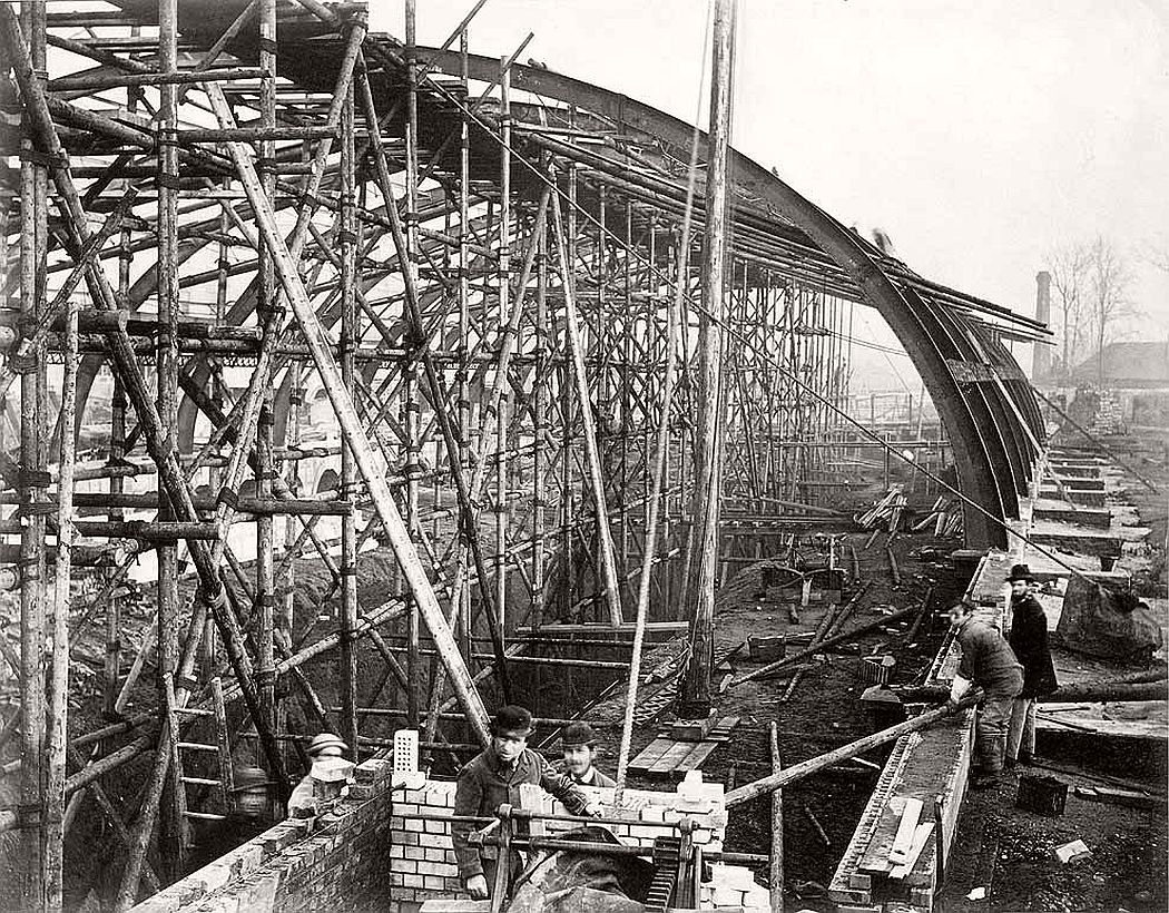 Vintage London Underground Construction Victorian Era