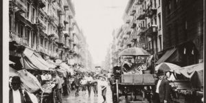 Vintage: Pushcart Markets in New York (Early 20th Century)