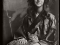 Vintage: Studio Portraits of Girls with Cat by Arnold Genthe (1910s)
