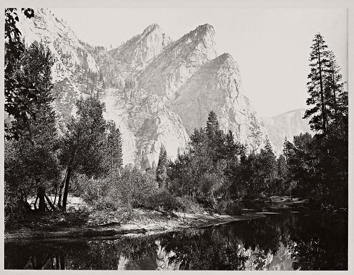 Carleton Watkins (U.S.A., 1829-1916) Pompompasos, the Three Brothers, Yosemite 4480 ft. 1865-1866