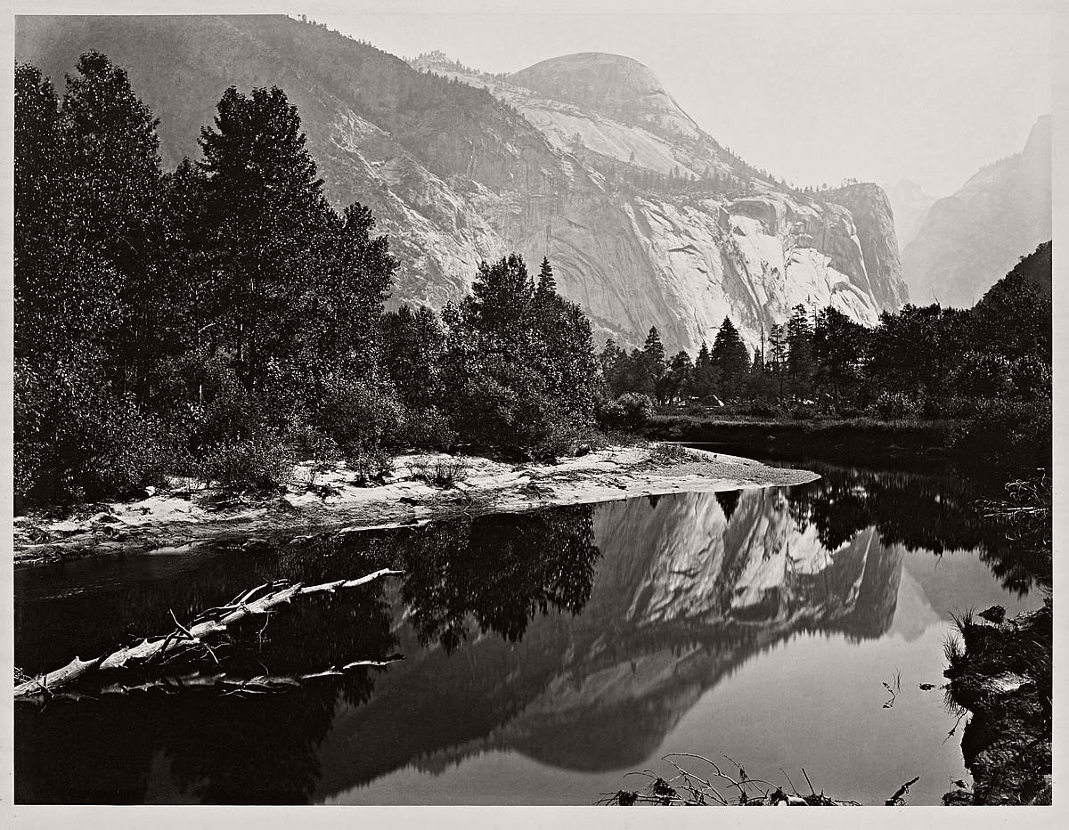 Carleton Watkins (U.S.A., 1829-1916) Mirror View of the North Dome, Yosemite 1865-1866