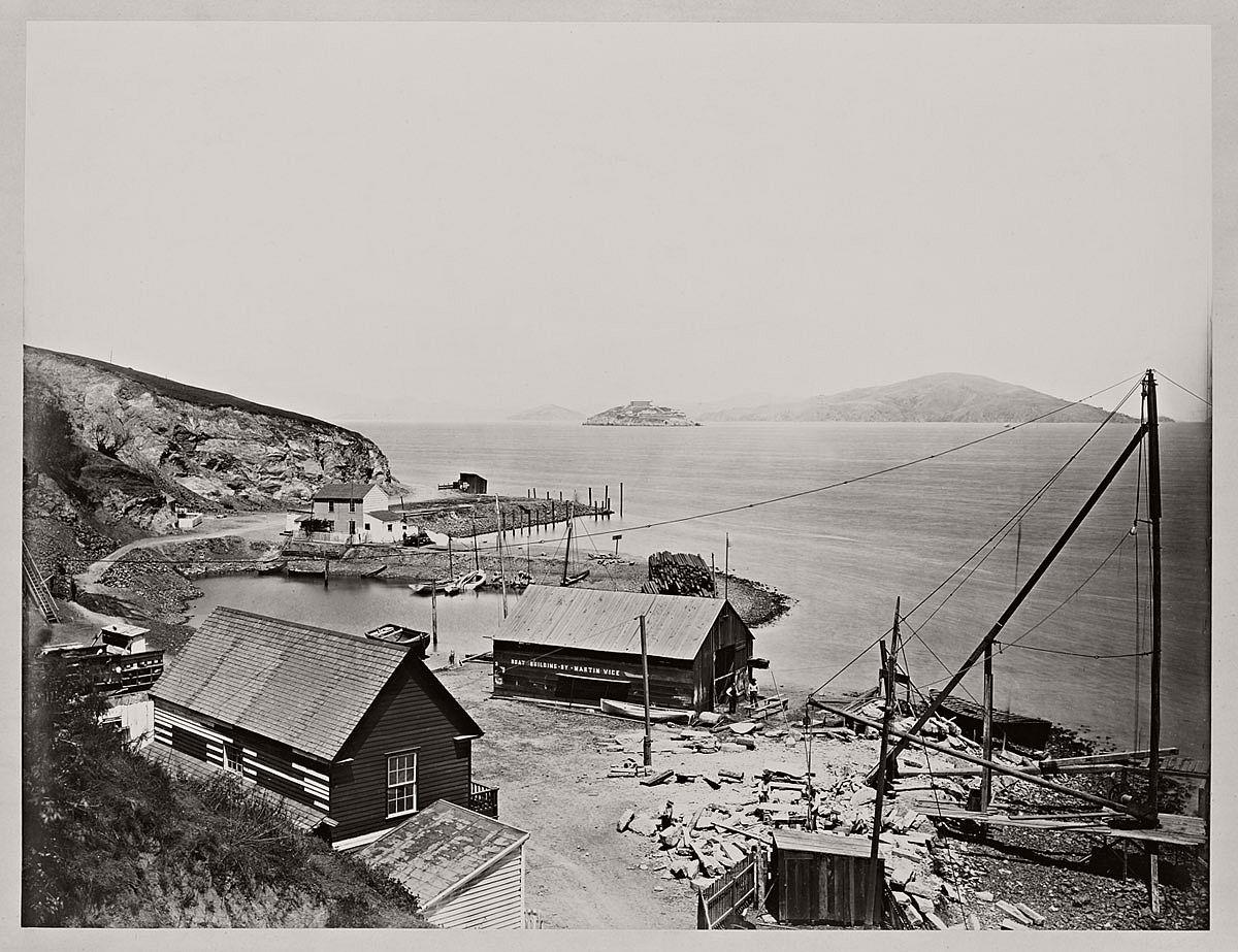 Carleton Watkins (U.S.A., 1829-1916) Alcatraz from North Point 1862–1863