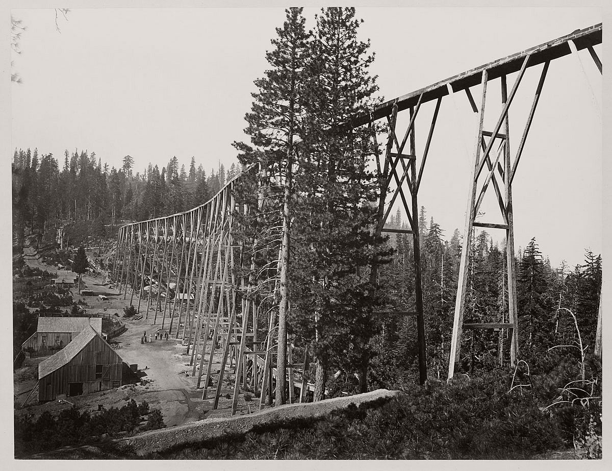 Carleton Watkins (U.S.A., 1829-1916) Magenta Flume Nevada Co. Cal. c. 1871