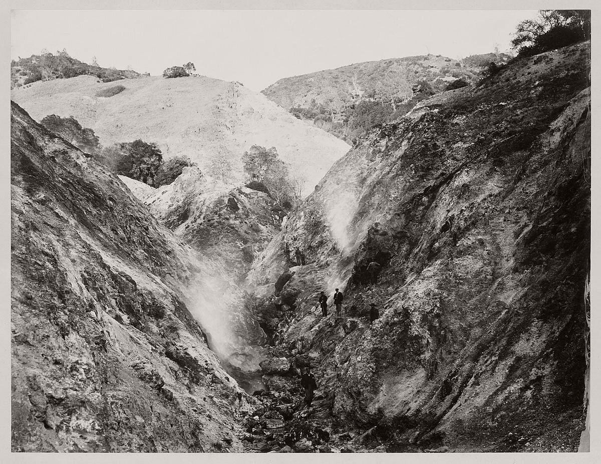 Carleton Watkins (U.S.A., 1829-1916) Devils' Cañon Geysers, Looking Up c. 1867