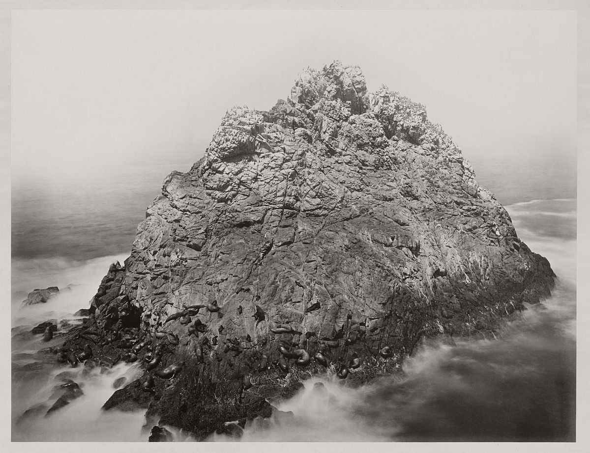 Carleton Watkins (U.S.A., 1829-1916) Sugar Loaf Islands and Seal Rocks, Farallons 1868-1869