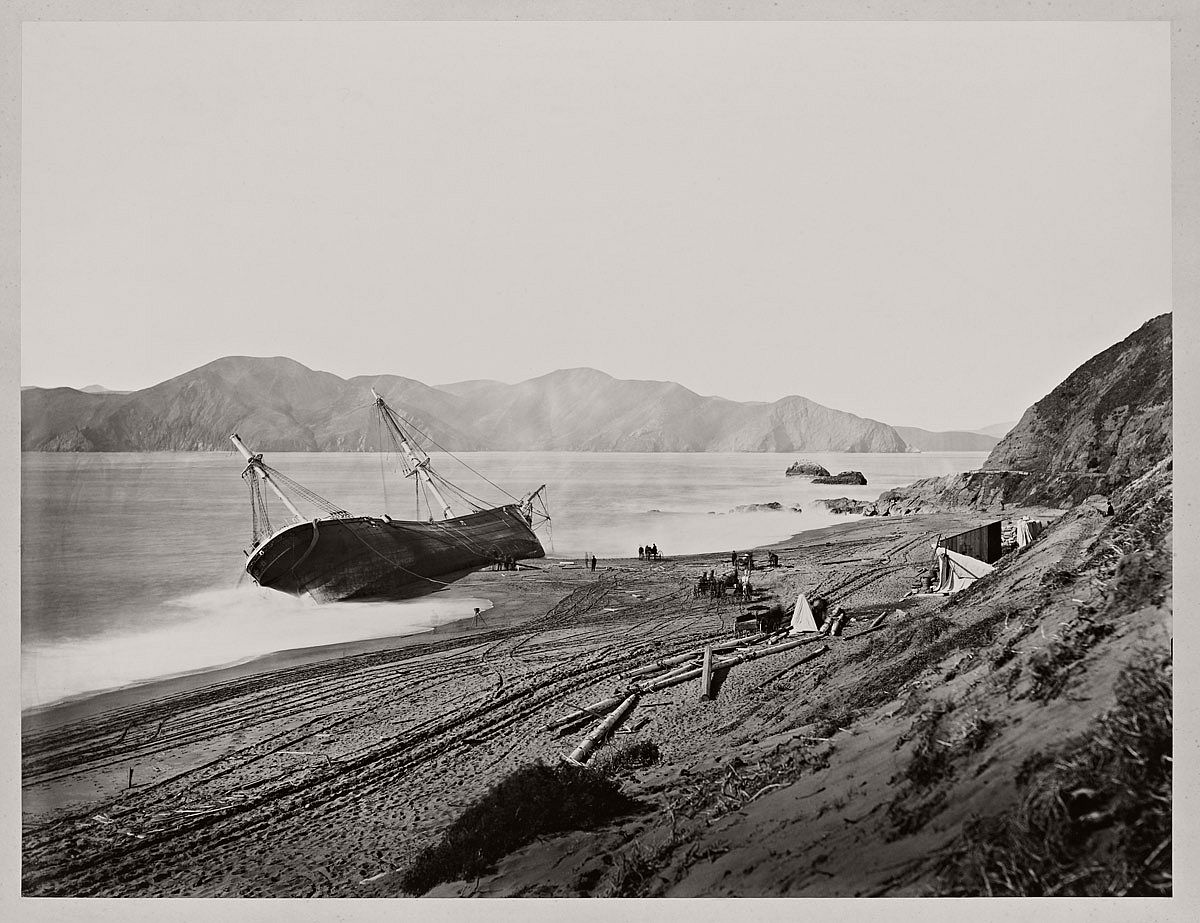 Carleton Watkins (U.S.A., 1829-1916) The Wreck of the Viscata March 1868