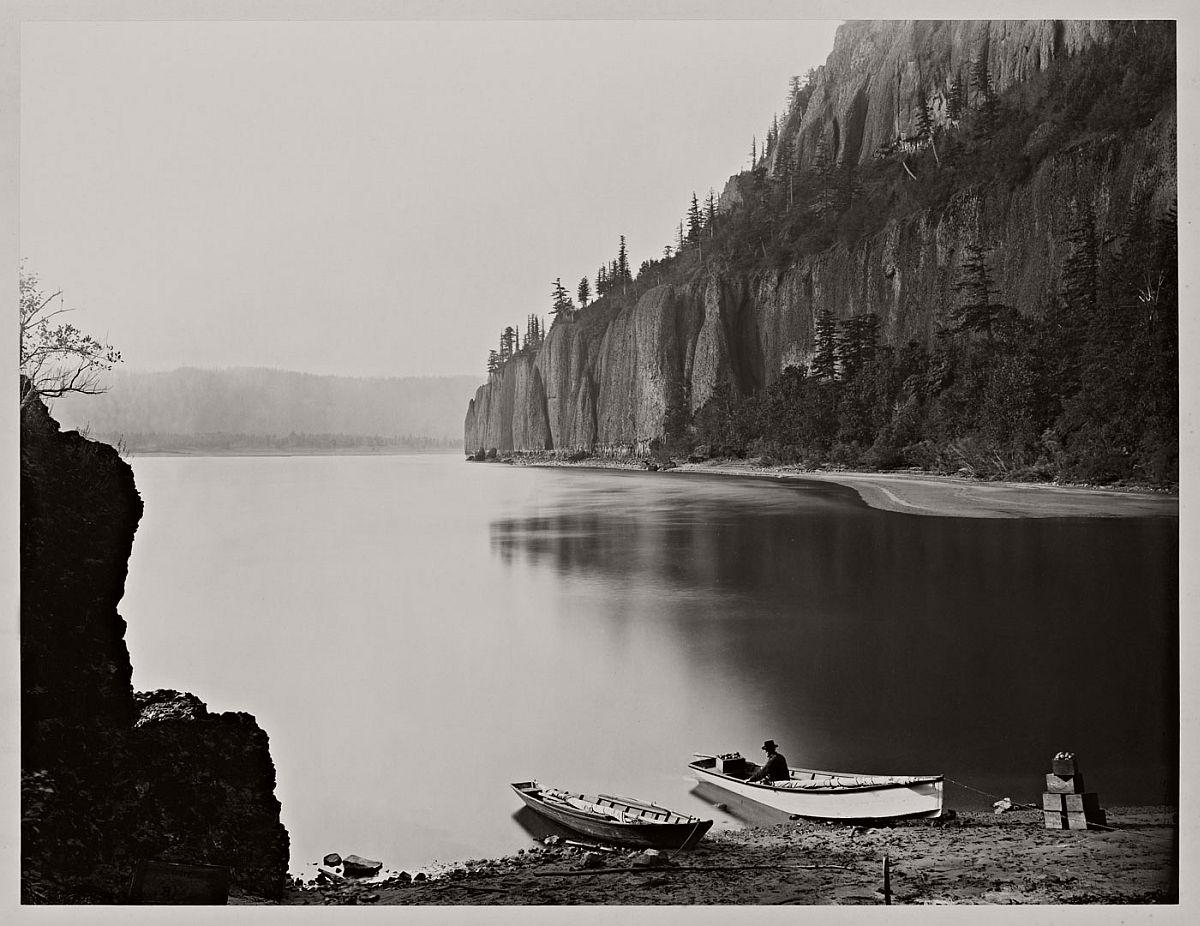 Carleton Watkins (U.S.A., 1829-1916) Cape Horn, Columbia River 1867